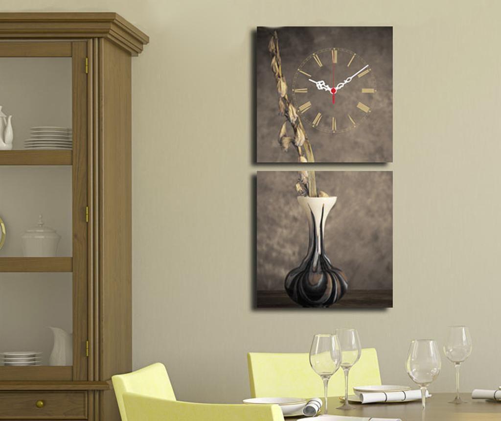 Set 2 slike sa satom Vase 28x28 cm