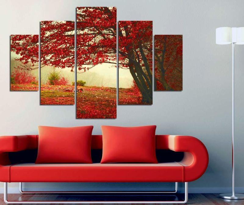 Set 5 slik Red Tree