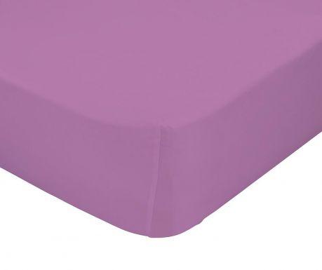 Plahta za krevetić s  elastičnom gumicom Basic Lilac
