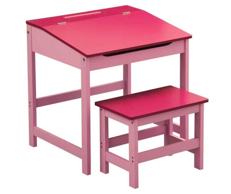 Set radni stol i stolica za djecu Julyan Pink