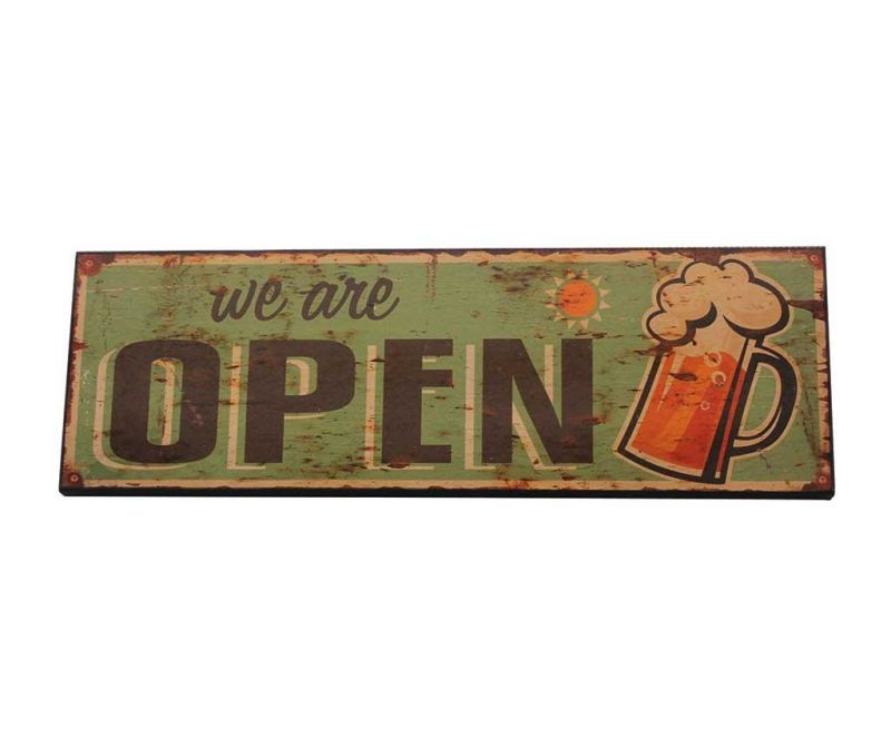 Stenska dekoracija We Are Open