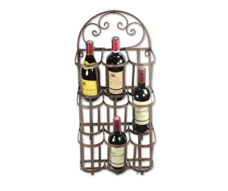 Suport de perete pentru sticle Vino Swirls