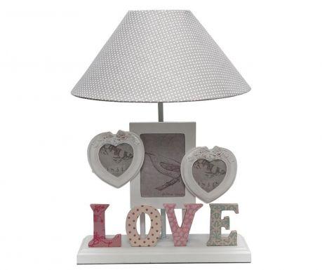 Lampa s 3 fotorámikmi Love