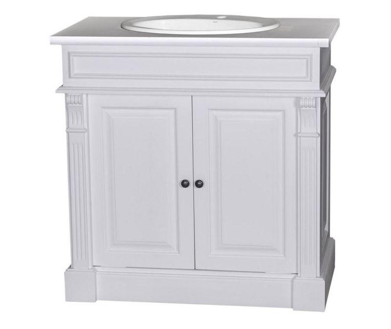 Dulapior pentru baie cu lavoar Small Column White