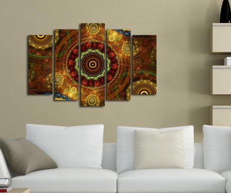 Σετ 5 πίνακες Oriental