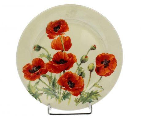 Beautiful Poppies Desszertes tányér