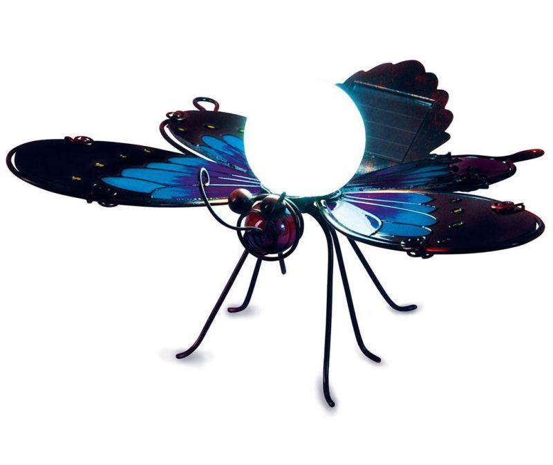 Lampa solara Blue Butterfly Borders