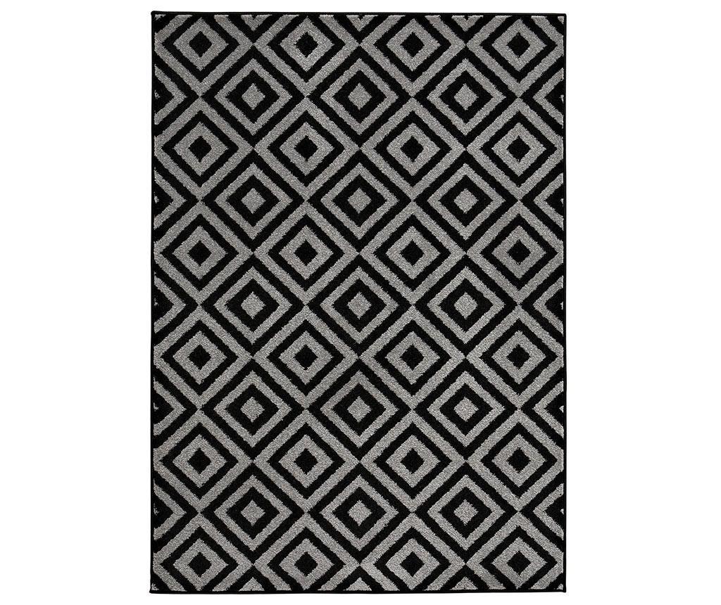 Covor Ximena Black Grey 120x170 cm