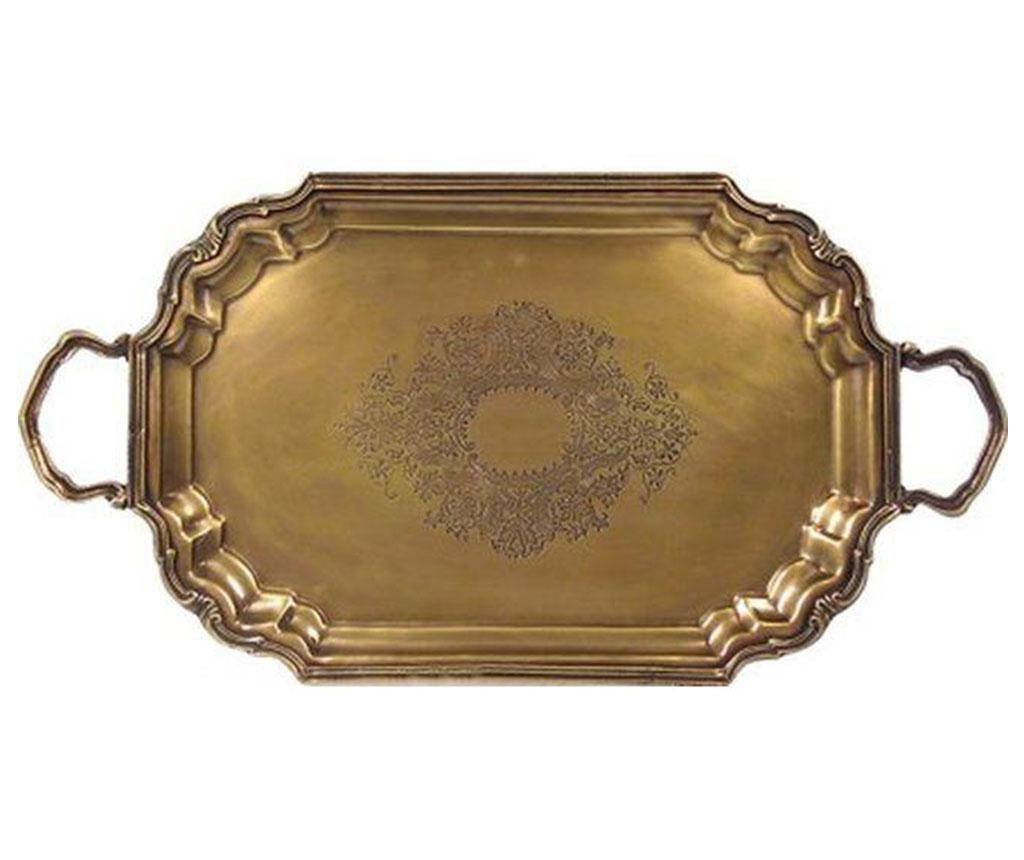 Antique Brass Szervírozó tálca