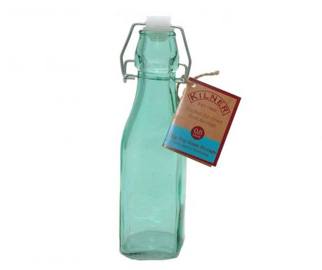 Kilner Clip Square Blue Üvegpalack  hermetikus  dugóval 250 ml