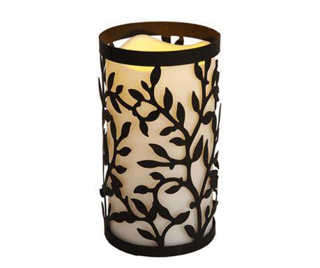 Свещ с LED и поставка Leaves