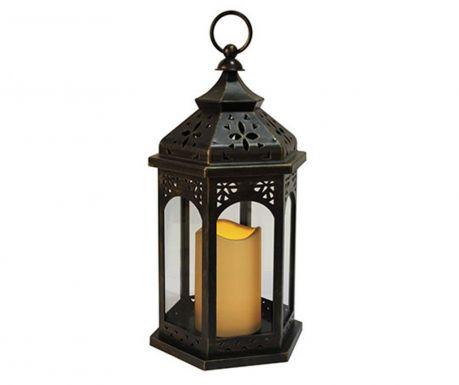 Фенер с LED-лампичка за екстериор Amber Black