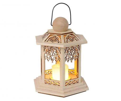Фенер с LED Lace Beige