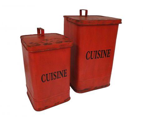 Zestaw 2 koszy na śmieci z pokrywą Cuisine
