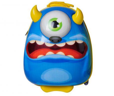 Walizka dziecięca na kółkach Bouncie Monster Blue