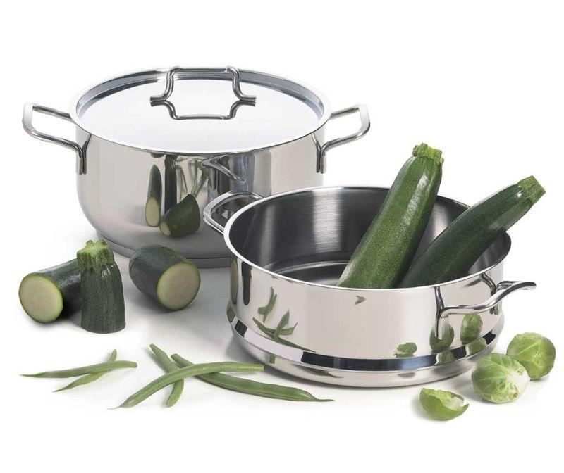 Trzyczęściowy zestaw do gotowania na parze Steamer