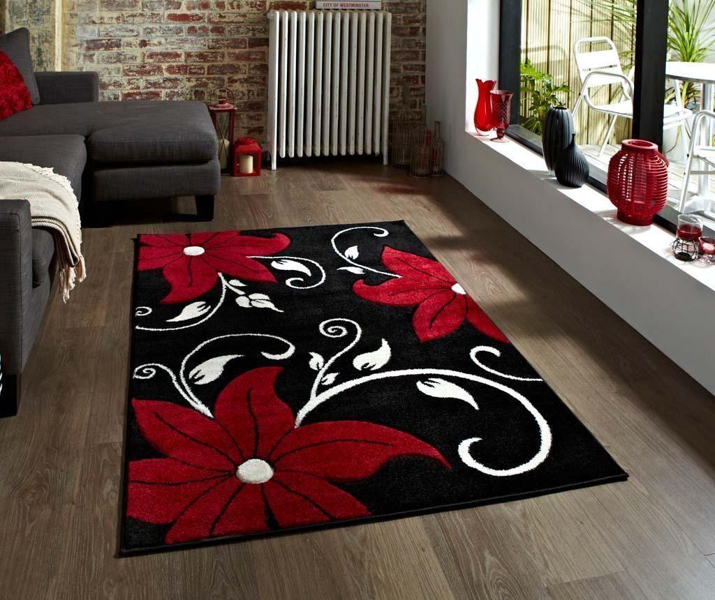 Koberec Verona Black and Red 80x150 cm