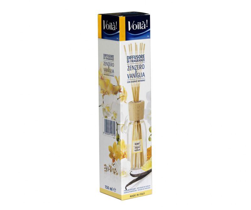 Difuzor cu uleiuri esentiale si betisoare Ginger & Vanilla 150 ml