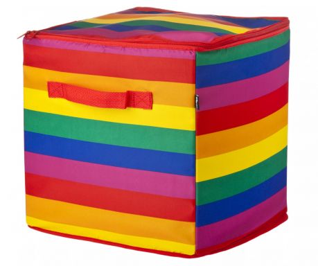 Zložljiva košara s pokrovom Rainbow Kiss