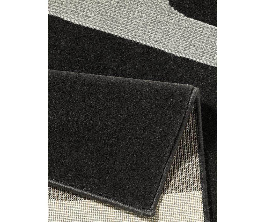 Килим Retro Black & Cream 80x200 см