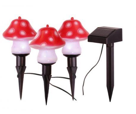 Комплект 3 соларни лампи Mushroom