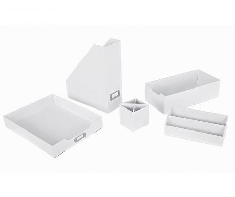 Opaco White 5  darabos Íróasztal rendszerező