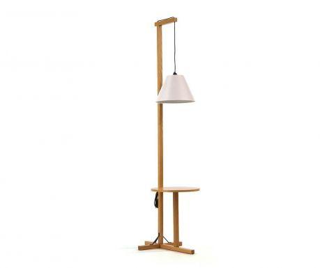 Podlahová lampa so stolíkom Ferdinand White