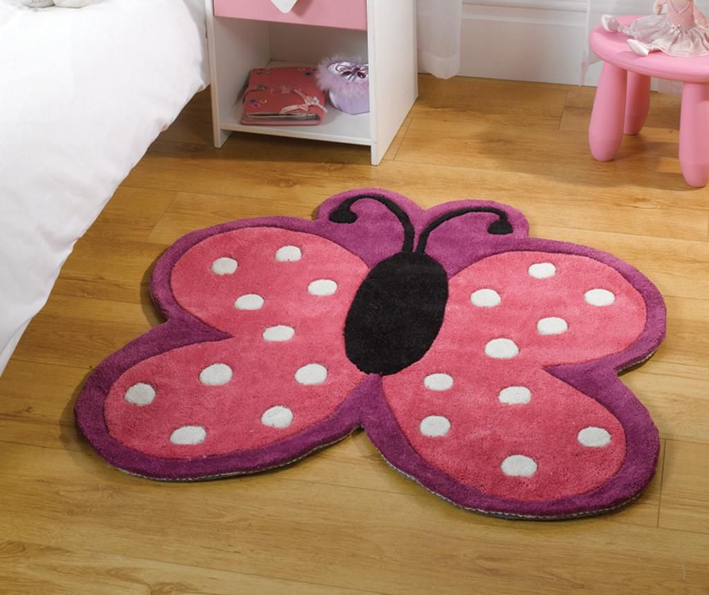 Tepih Polka Butterfly 90x90 cm