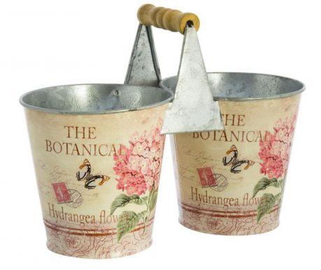 Botanic Tartó 2 db virágcseréppel