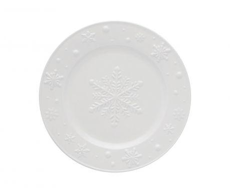 Farfurie pentru desert Snowflakes White