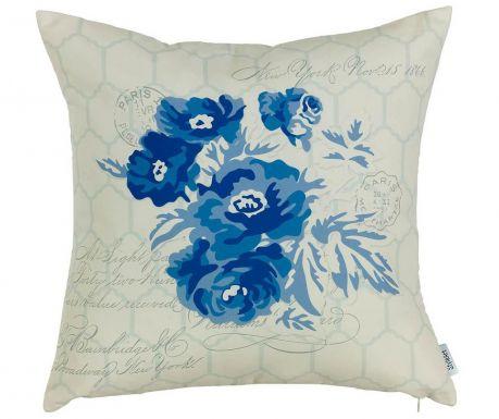 Μαξιλαροθήκη Blue Flower 43x43 cm