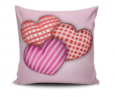 Stripes Hearts Díszpárna
