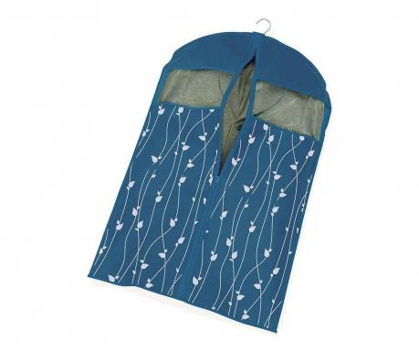 Θήκη ρούχων Leaves Blue 60x100 cm