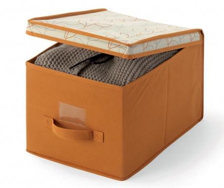 Κουτί με καπάκι για αποθήκευση Bloom Orange S