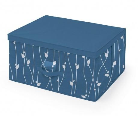 Κουτί με καπάκι για αποθήκευση Leaves Blue L