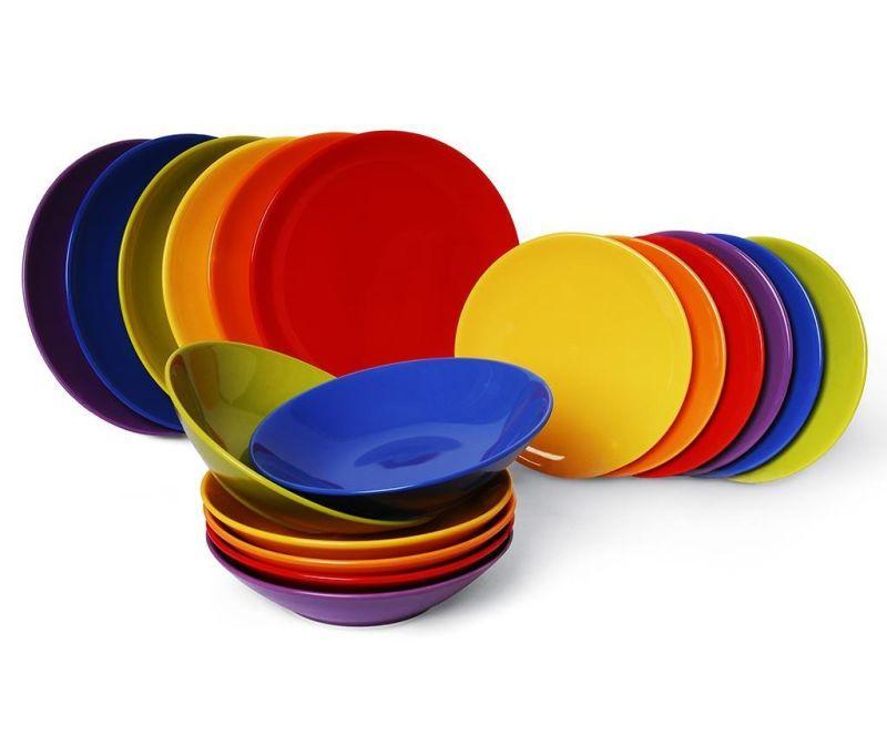 Osiemnastoczęściowa zastawa stołowa Trendy Multicolor