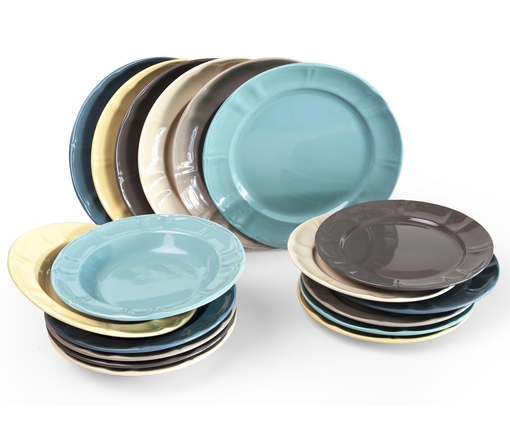 18-dijelni servis za jelo Country Chic Multicolor