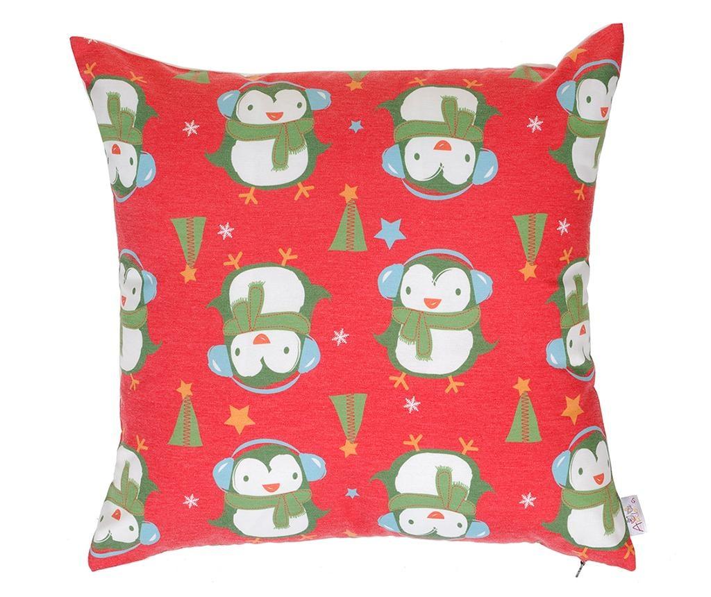 Jastučnica Christmas Penguins Red 43x43 cm