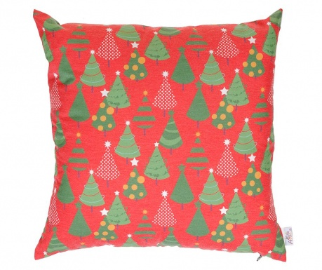 Fata de perna Christmas Trees Red 43x43 cm