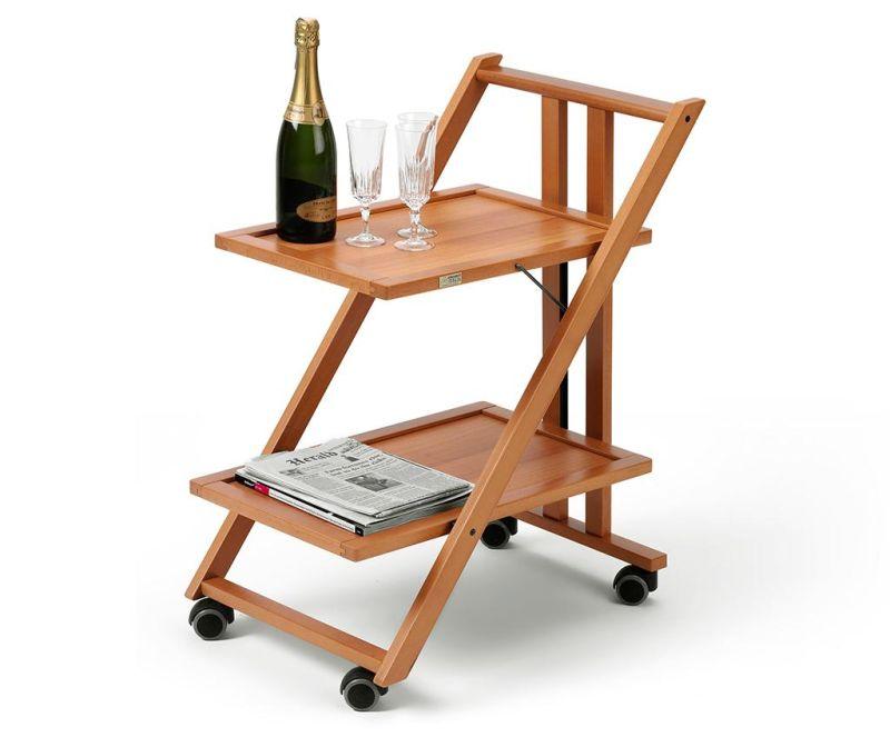 Zložljiv servirni voziček Simpaty Brown
