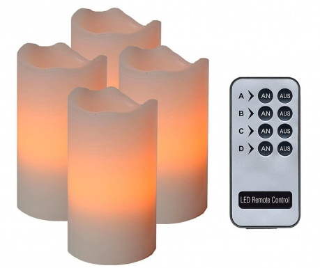 Комплект 4 свещи с LED Zoey