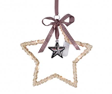 Viseča svetlobna dekoracija Willow Bordeaux Star