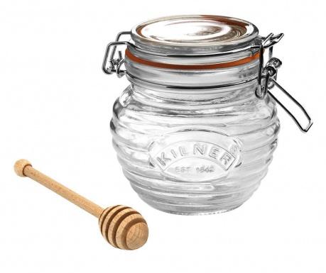 Clip Top Bee Befőttesüveg  hermetikus fedővel és mézcsurgatóval 400 ml