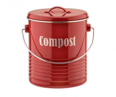 Recipient cu capac pentru compost Vintage Kitchen Red