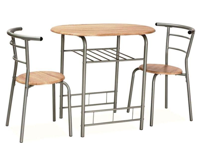 Zestaw stół i 2 krzesła Glill Brown