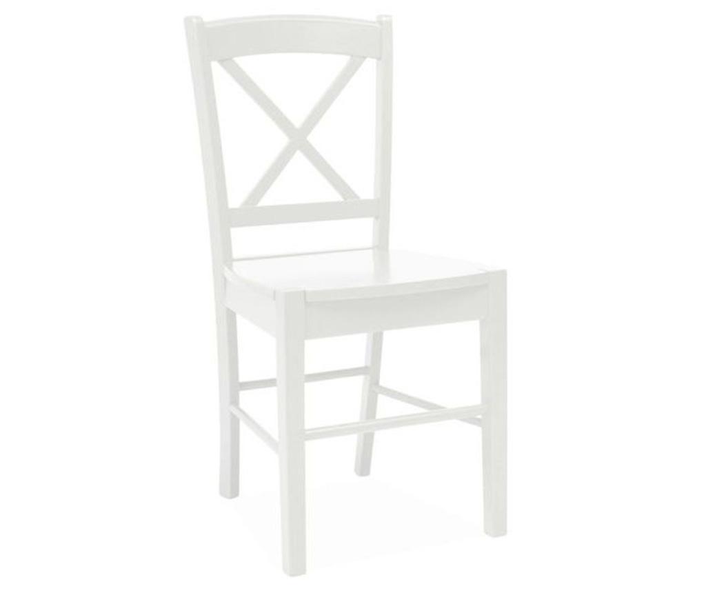 Židle Crossed White