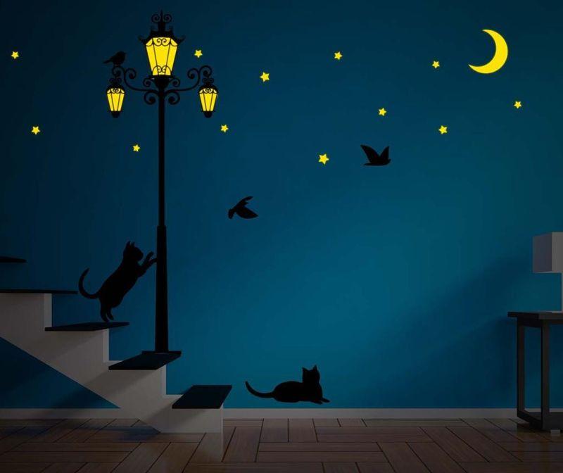 Fosforeskující samolepka Street Light