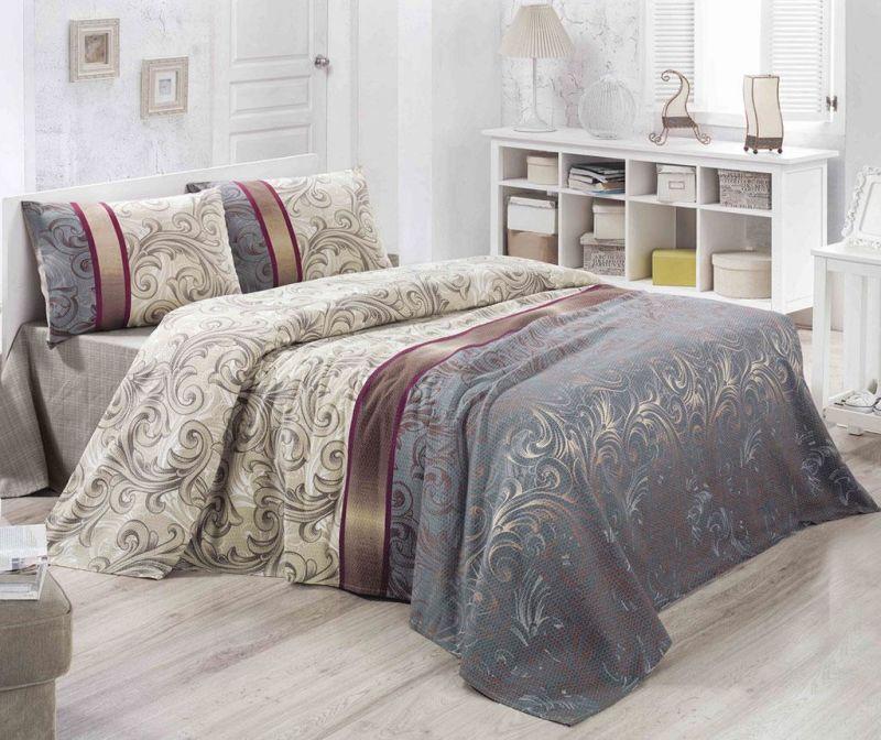 Prekrivač Pique Hurrem Cream Beige 160x230 cm