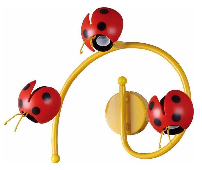 Zidna  ili stropna svjetiljka Ladybug Triple