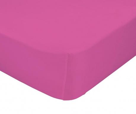 Plahta za krevetić s  elastičnom gumicom Basic Fuchsia